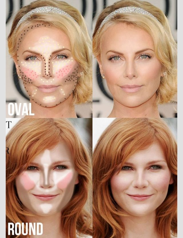 Tremendous Highlighting Amp Contouring For Oval Amp Round Face Shape Makeup Short Hairstyles Gunalazisus