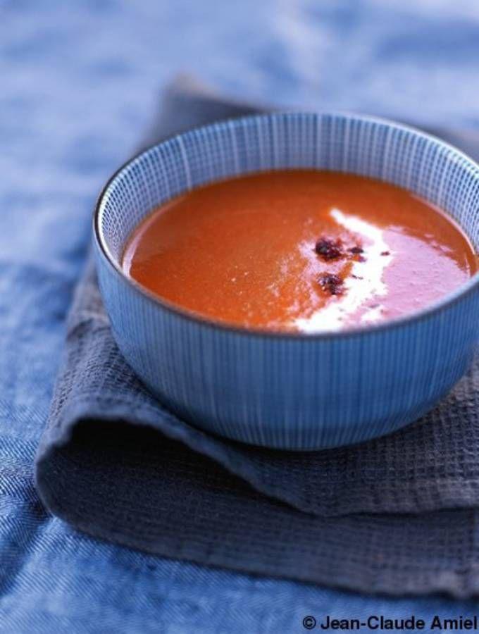 Soupe de légumes : Soupe aux poivrons rouges
