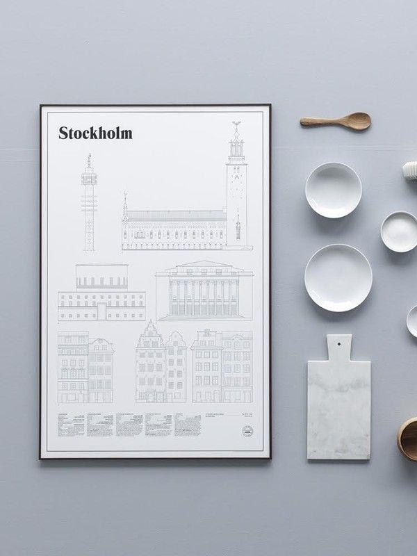 Stockholm print by Studio Esinam