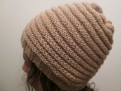 ▶ TUTO TRICOT APPRENDRE A TRICOTER UN BONNET AU POINT DE GODRON TRICOT FACILE !!!! - YouTube