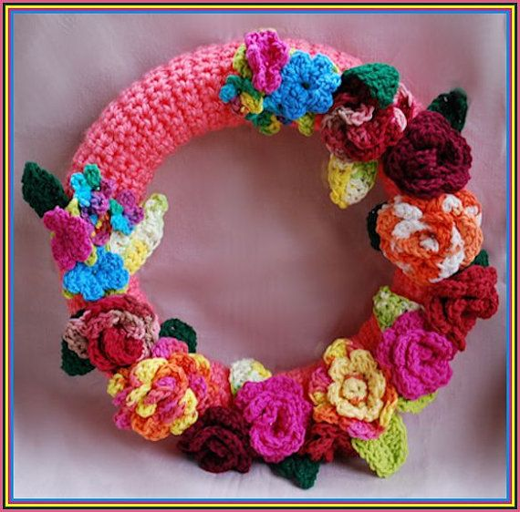 36 best Crocheted wreath images on Pinterest