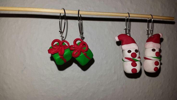 hjemmelavede jule øreringe