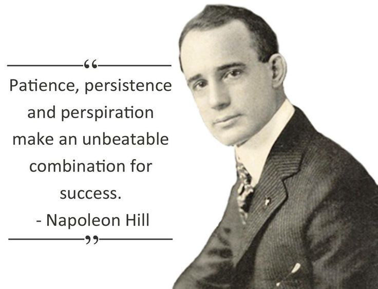 Napoleon Hill wrote THE classic THINK AND GROW RICH...