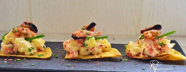 RossGastronómica: Tostada de mejillones con ensalada rusa by Enrique Olvera