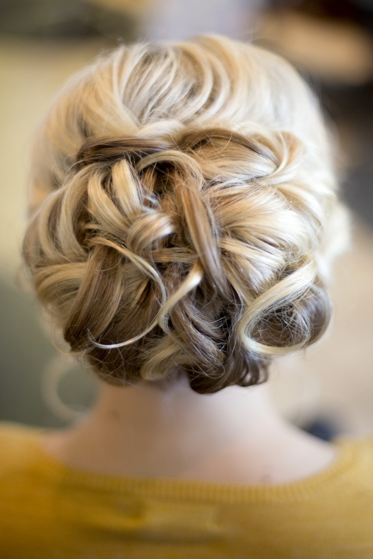 intricate updo. fab! wedding hair, wedding, flowers, bride, groom, our day
