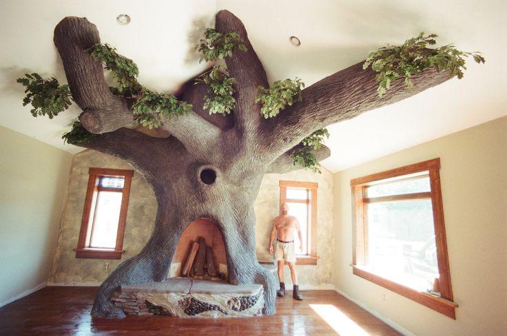 Oak Tree Rumford Fireplace ---> Repinned by www.gers.nl