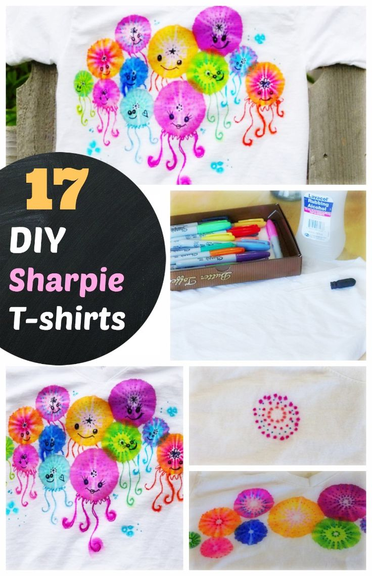 #28 DIY Sharpie T-shirts, Shoes and Pillows ( Sharpie Love). How to make sharpie tie dye t-shirts. Sharpie Canvas and Sharpie Shoe Arts. Sharpie Pillows. Learn step by step method on each sharpie craft.