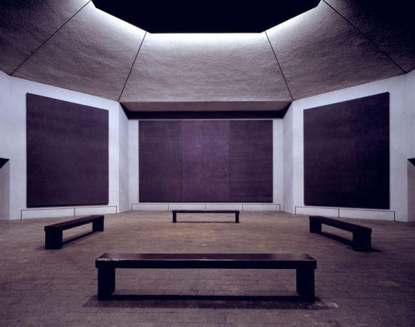 Rothko - Tryptyk (w kaplicy uniwersyteckiej w Houston); ekspresjonizm abstrakcyjny, color field painting