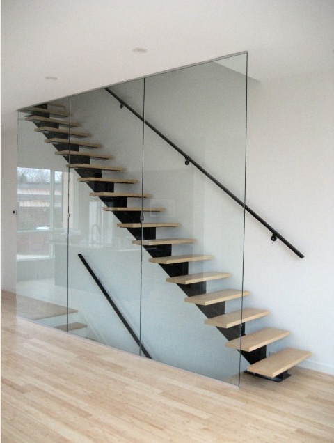 Best Floating Stair Central Support Stairs Pinterest 400 x 300