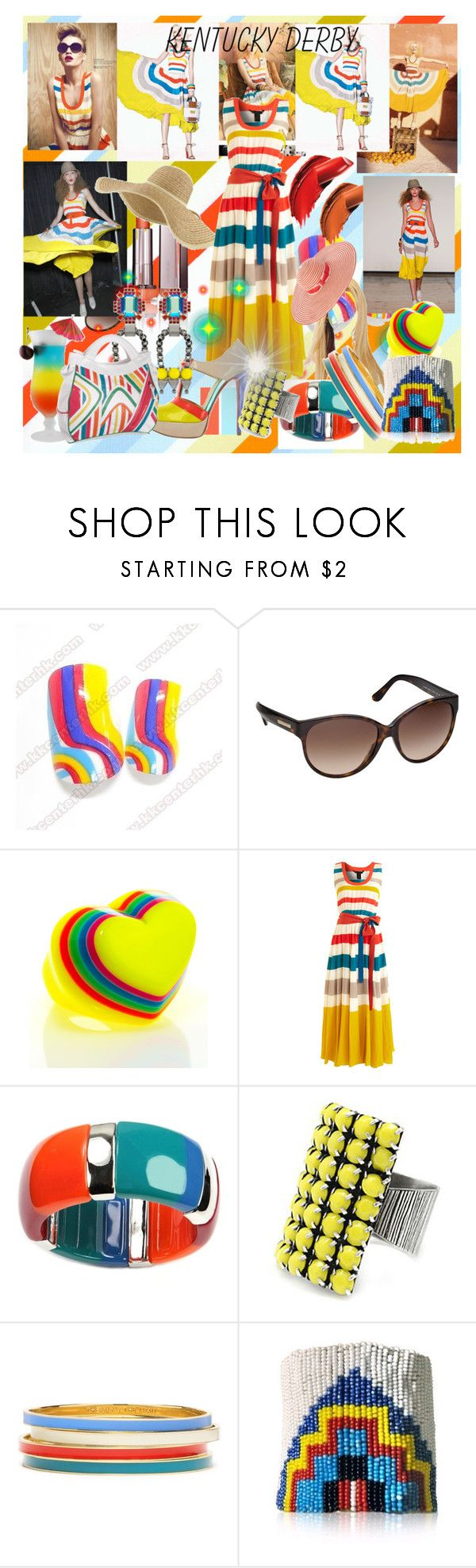 """""""Summer girl"""" by caramelpz ❤ liked on Polyvore featuring Burberry, COVERGIRL, Marc by Marc Jacobs, FRIDA, JLo by Jennifer Lopez, Marc Jacobs, Adia Kibur, Nine West, Margarita and Christian Louboutin"""