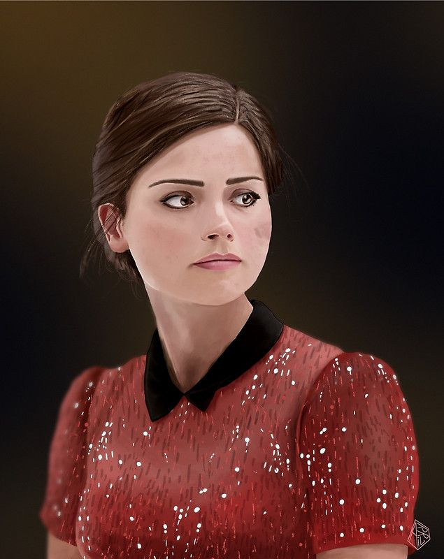 Clara Oswald  Print available at http://www.redbubble.com/people/arril/works/13337520-clara-oswald