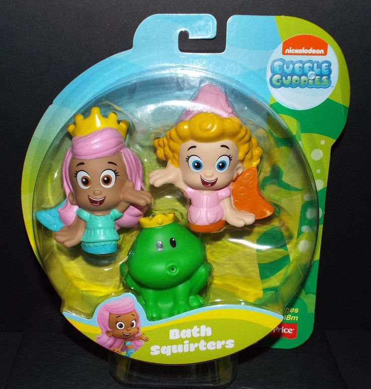 Fisher Price Bubble Guppies Bath Squirters Molly, Deema U0026 Frog Prince NEW!  #FisherPrice