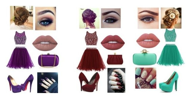 """""""Untitled #103"""" by bris-muffins ❤ liked on Polyvore featuring Michael Antonio, AX Paris, Christian Louboutin, Revlon, Masquerade, Lime Crime, Wilbur & Gussie, Oscar de la Renta and Gucci"""
