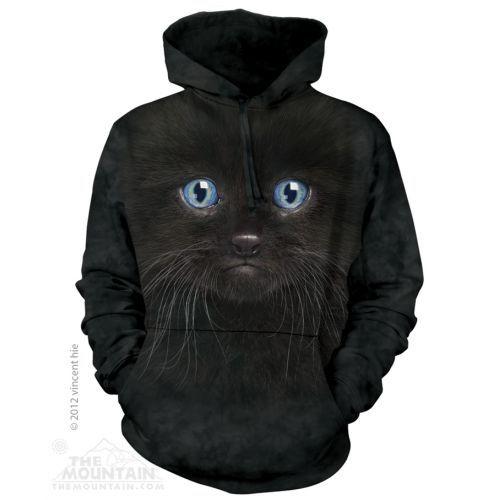 Mikina Černá kočka s kapucí