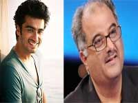 Actor Arjun Kapoor, who is working with Sonakshi Sinha in 'Tevar', says that his father, producer Boney Kapoor is very protective about the actress and treats her like his own daughter.