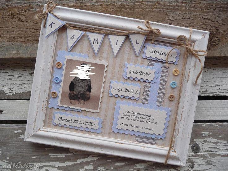 Obrazek -metryczka pokoik dziecka maju hand made majuhandmade