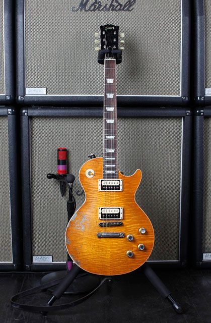 "GALLERY: Slash's 2012 Touring Gear  See what guitars and amps Slash used live on his ""Apocalyptic Love"" tour.    Read more: http://www.premierguitar.com/Magazine/Issue/2012/Dec/GALLERY_Slashs_2012_Touring_Gear.aspx?Page=1"