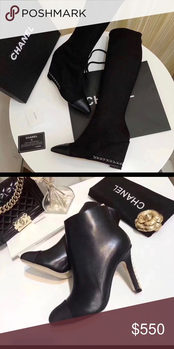 Brand name Heels, boots Channel, Hermès, Salvatore CHANEL Shoes Ankle Boots & Booties