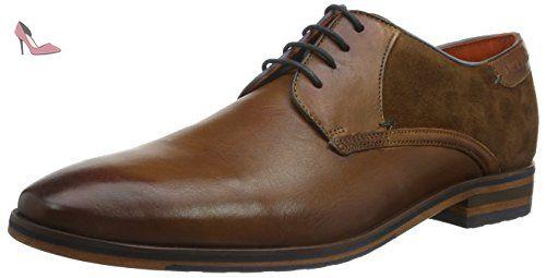 Daniel Hechter Praga 0498, Chaussures à lacets homme - Marron/espresso, 40 EU
