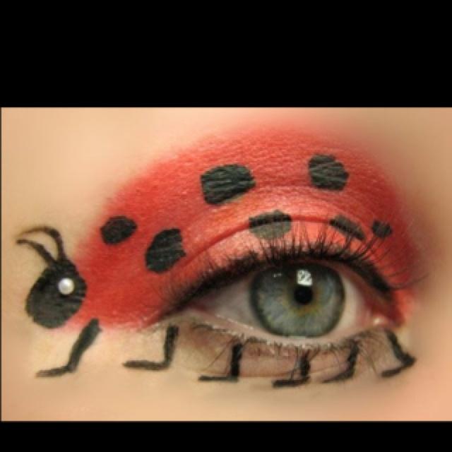 : Eye Makeup, Ladybugs Eye, Faces Paintings, Halloween Makeup, Makeup Ideas, Costume, Eyemakeup, Lady Bugs, Halloween Ideas