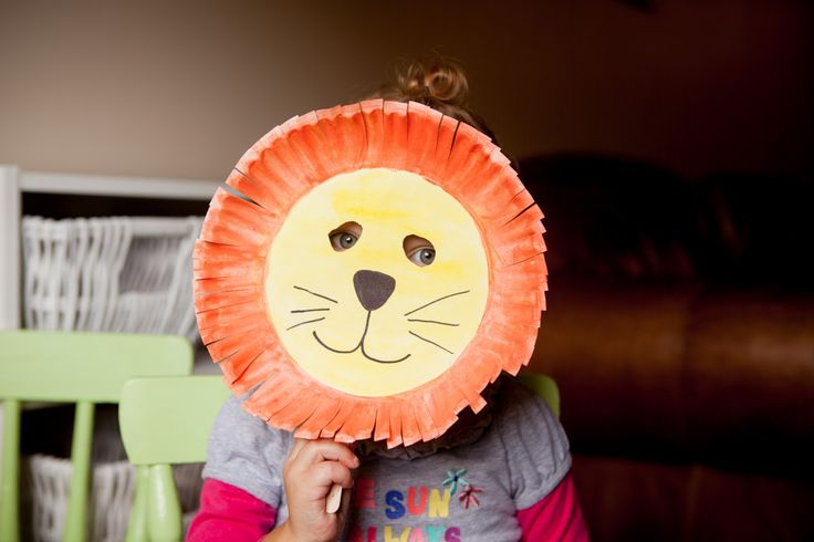 lion mask | You can make a cute little lion mask out of a paper plate so easily ...