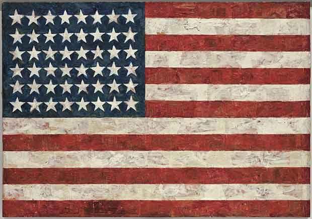 A világ legdrágább festményei: Japser Johns: Zászló – 119,8 millió dollár