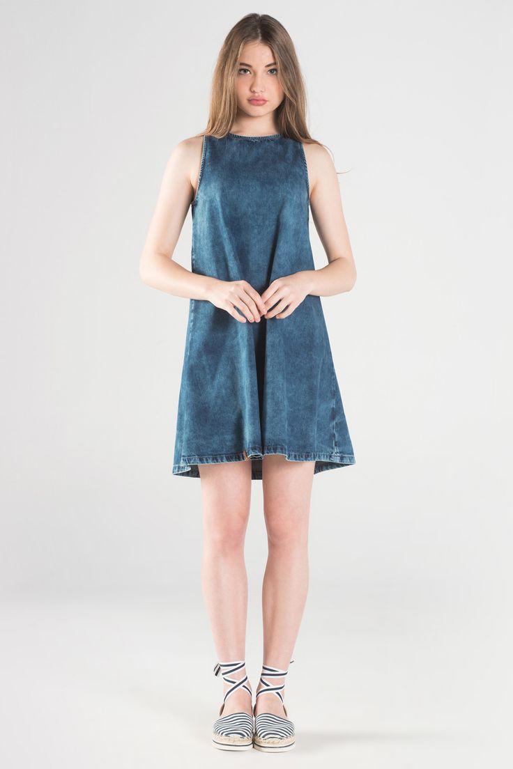 ΦΟΡΕΜΑ Κωδικός : 9905499 Τζιν φόρεμα σε Α γραμμή 69,90 €