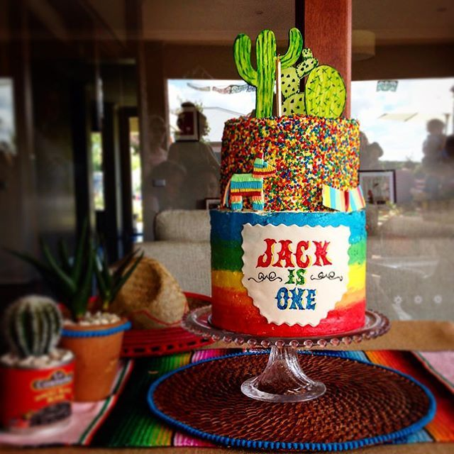 Fiesta time!! Very dear friend's gorgeous boy turned one on Sunday, so they…