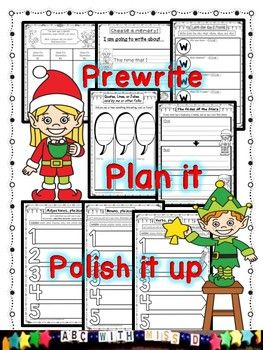 Winter Vacation Writing Homework-Writers Workshop and Prewriting Packet NO PREP