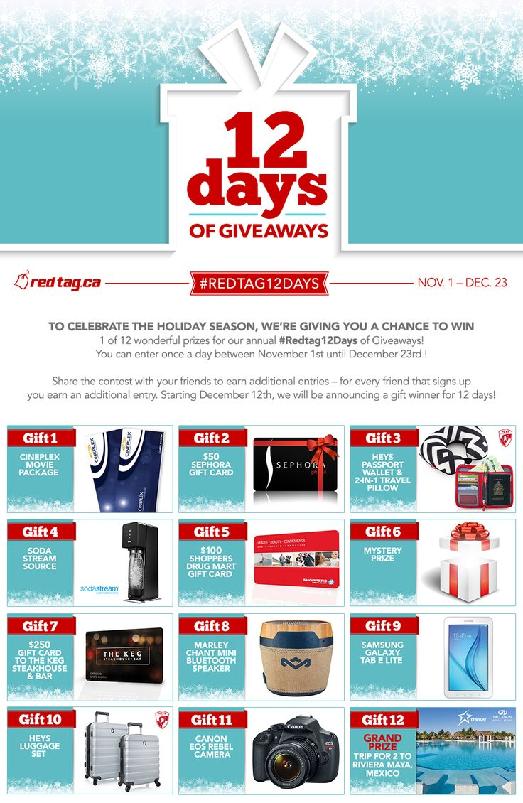 Enter the Redtag.ca 12 Days of Giveaways