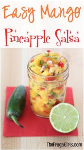 Easy Mango Pineapple Salsa