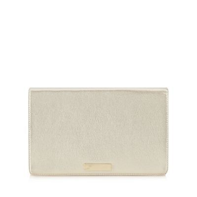 Floozie by Frost French Gold metallic clutch bag- | Debenhams