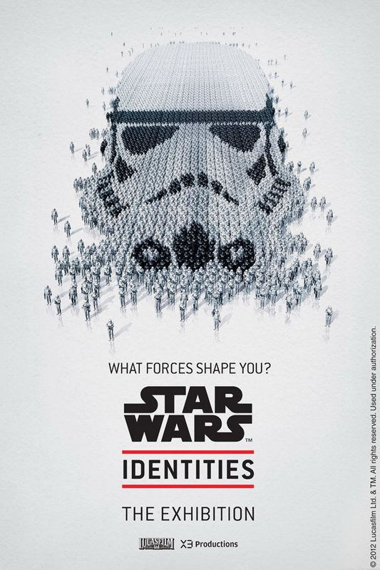 """To highlight the exhibit """"Star Wars"""" which opens in Montreal April 19, 2012, the Science Center presents a series of beautiful posters. Using vectorial elements of history to form a mosaic of characters in the series, the visuals are in the sequel."""