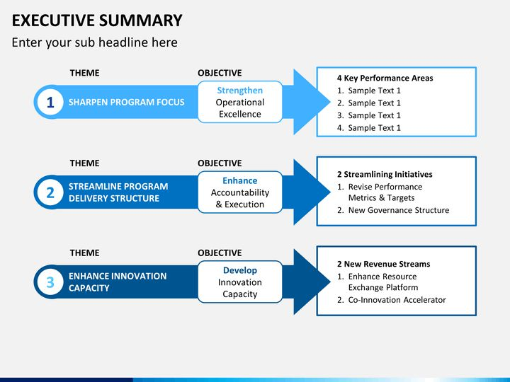 Executive Summary Template Powerpoint Executive Summary