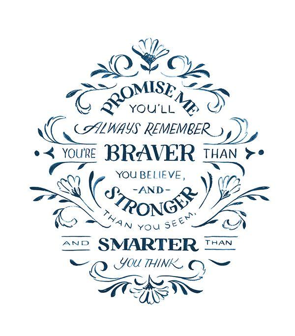 Christopher Robin Quote on Behance by Jill De Haan
