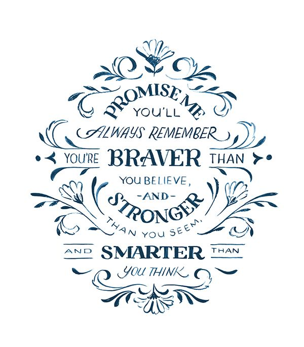 Christopher Robin Quote on Behance by Jill De Haan