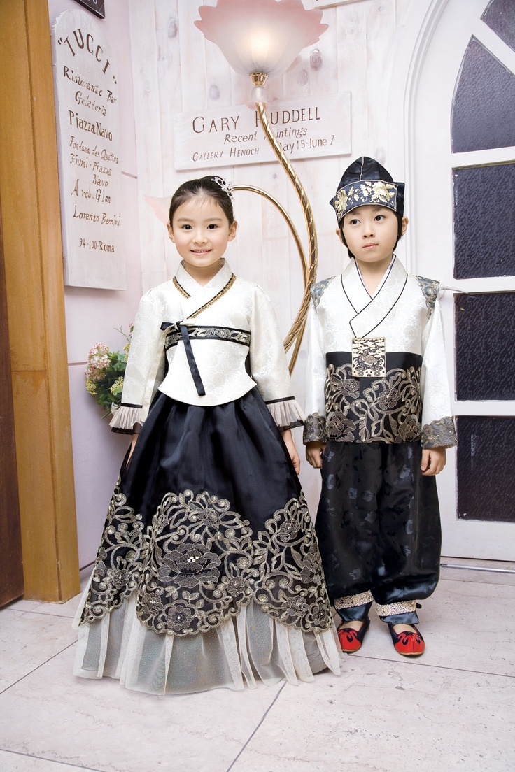 Gorgeous modern Korean hanbok.