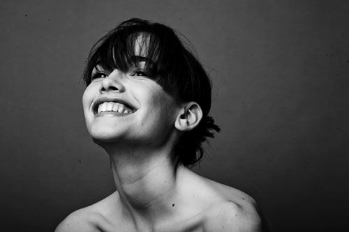 smile, black and white, women, photography