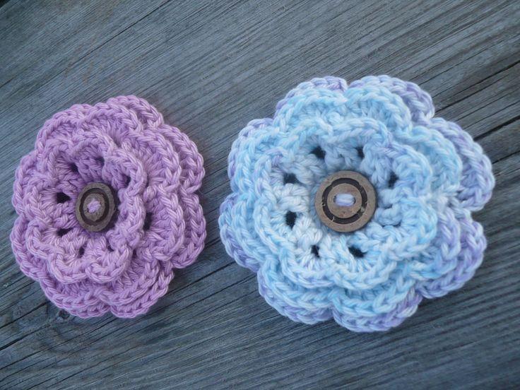 Tutorial flor crochet o ganchillo paso a paso en espaol - Como hacer flores de ganchillo ...