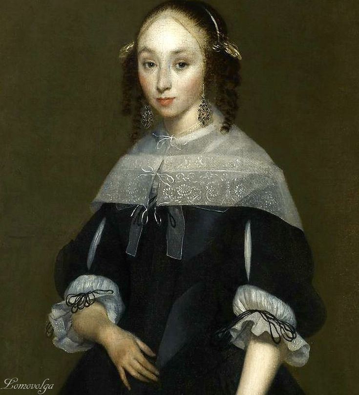 Герард Терборх (Gerard Terborch, 1617-1681, Dutch artist). Portrait of a Young Lady The Frick Collection