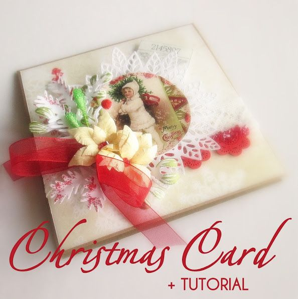 Hand-Crafted by Gabi M.: {GIFTS + TUTORIAL} Christmas Card & DIY Pistils / Vánoční přání & DIY pestíky