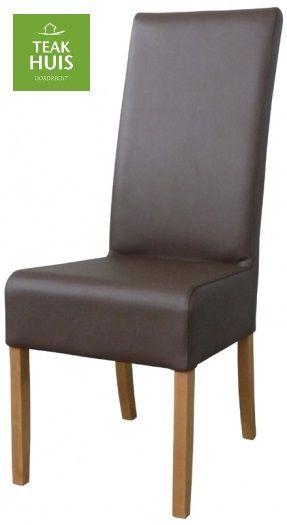 STOEL KEN  Deze stoel is te leveren in diverse kleuren stof of leer. Poten koloniaal of diverse houtkleuren