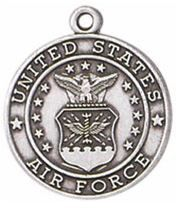 Air Force Sterling Silver St. Michael Medal from Jeweled Cross