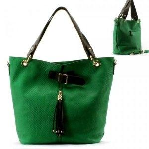 Tassel Removable Strap Purse and Bag / Handbag/ Green/ Rcht1539grn,$41.99