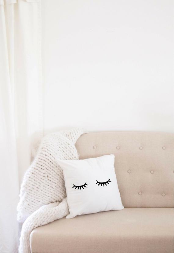 Geschenk Fur Sie Personalisierte Sleepy Eyes Kissenhulle