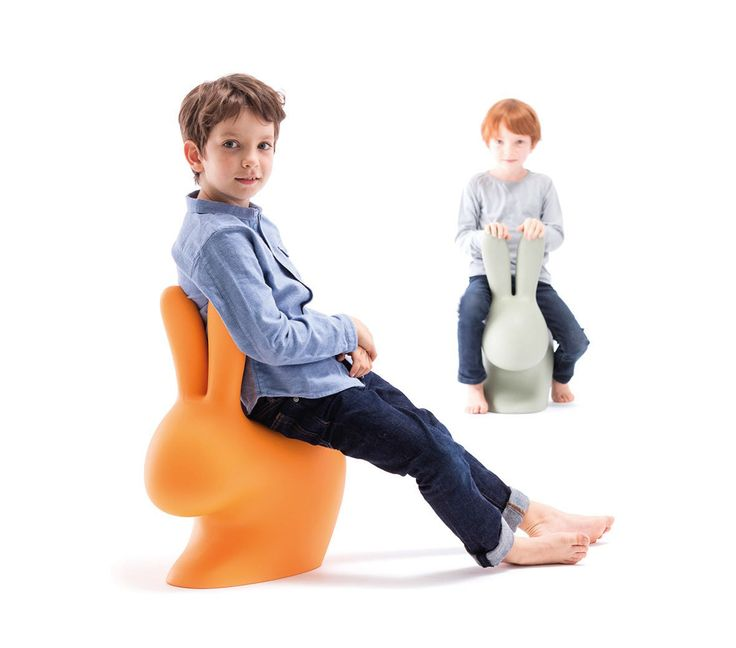"""""""The Rabbit Chair"""" by Qeeboo is available in different sizes that are perfect for both children and adults."""