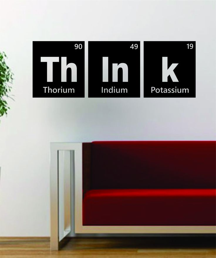 Think Periodic Table Science Design Decal Sticker Wall Vinyl Decor Art Home