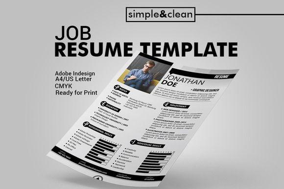 Job Resume Template by MAGOO STUDIO on Creative Market