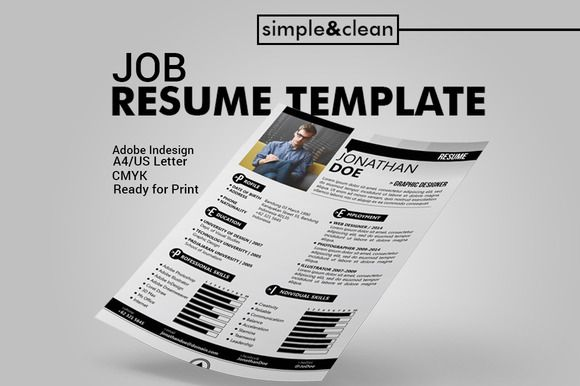 Job Resume Template by MAGOO STUDIO on Creative Market