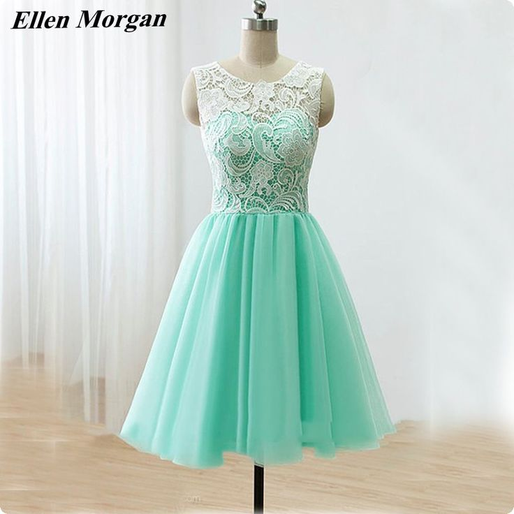 Short Mint Green Homecoming Dresses 2017 Real Pictures Knee Length Back to School Black Girls Cute 8th Grade Graduation Party